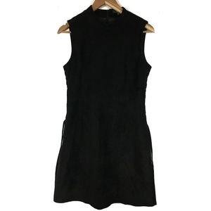Miss Me Dress  SZ L Faux Suede Lined Sleeveless